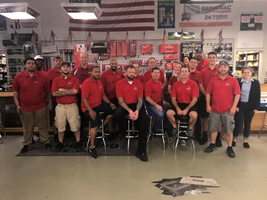 Independent Electric Supply wears red on fridays